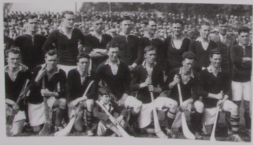 Cork All-Ireland Hurling Champions 1931. Back Row: E O'Connell, J Hurley, P Aherne, P O'Grady, J Coughlan, M O'Connell, W Clancy, W Dorney (selector), P Delea. Front Row: J O'Regan, M Aherne, D Barry Murphy, T Barry, E Coughlan (capt), P Collins, M Madden.