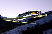 © Filippo Alfero<br /> Pragelato (TO), 12/12/2008<br /> sport , salto con gli sci<br /> Coppa del Mondo di Salto con gli Sci - Pragelato - qualifiche<br /> Nella foto: Simon Ammann - SUI<br /> <br /> © Filippo Alfero<br /> Pragelato, Italy, 12/12/2008<br /> Ski Jumping<br /> FIS World Cup Ski Jumping - Large Hill Individual - 5th competition - qualification<br /> In the photo: Simon Ammann - SUI