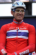 Alexander Kristoff (Norway) at the presentation during the Road Cycling European Championships Glasgow 2018, in Glasgow City Centre and metropolitan areas Great Britain, Day 11, on August 12, 2018 - Photo Laurent Lairys / ProSportsImages / DPPI