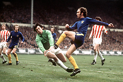 Gordon Banks, Stoke saves at the feet of John Dempsey, Chelsea