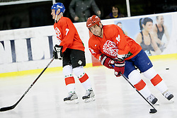 Matjaz Kopitar of Jesenice during Humanitarian hockey derby of legends between Olimpija and Jesenice, on 7 March 2014, in Hala Tivoli, Ljubljana, Slovenia. Photo by Urban Urbanc / Sportida.com