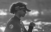 Putney, London,  Tideway Week, Championship Course. River Thames, <br /> <br /> Tuesday  28/03/2017<br /> [Mandatory Credit; Credit: Peter Spurrier/Intersport Images.com ]<br />  <br /> OUWBC. No. 7: Emily Cameron – CAN,