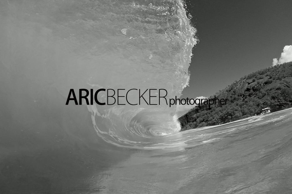 Black & White Shore Break at Big Beach on Maui.