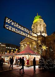 Traditional Christmas Market at Gendarmenmarkt in Mitte Berlin Germany 2009
