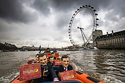 Enough Food IF campaigners arrive at Westminster by speed boat to call on Osborne to keep promises to the world's poorest.