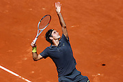 Roland Garros. Paris, France. May 28th 2012.Swiss player Roger FEDERER against Tobias KAMKE..