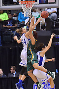April 4, 2016; Indianapolis, Ind.; Megan Mullings battles for a rebound in the NCAA Division II Women's Basketball National Championship game at Bankers Life Fieldhouse between UAA and Lubbock Christian. The Seawolves lost to the Lady Chaps 78-73.