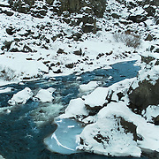 Glacier rivers thingvellir National Park.