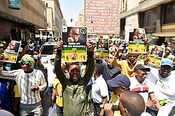 South Africa - Johannesburg - 08 October 2020 - The African National Congress (ANC) Free State members gathered outside the Luthuli House in defence for Secretary secretary-general Ace Magashule. Picture: Itumeleng English/African News Agency(ANA)