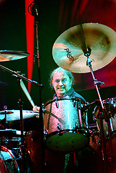 Ian Paice Drummer with the legendry Rock Band Deep Purple, Rocking the Sheffield City Hall audience on Feb 12 2002. The two hour set,  part of the bands 2002 - 2003 world tour featured many of the old classics, When a Blindman Cries, Hush,Smoke On The Water, Black Night, Woman from Tokyo, Highway Star, Lazy alnong with some of the newer numbers and one Brand new and as yet unrecorded song.