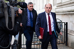 © Licensed to London News Pictures. 03/10/2019. London, UK. Secretary of State for Defence Ben Wallace arrives at Downing Street . Later today Prime Minster Boris Johnson will make a statement in the House of Commons.  Photo credit: George Cracknell Wright/LNP