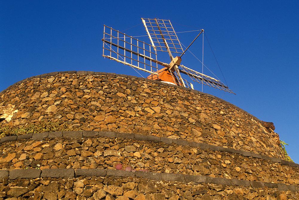 España. Islas Canarias. Lanzarote..Un molino en el Jardín de Cactus, uno de los trabajos de César Manrique..©JOAN COSTA