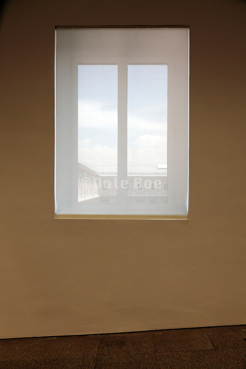 window with semi transparent screen
