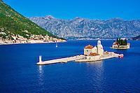 Monténégro, côte Adriatique, les bouches de Kotor, Perast, iles Saint Georges et Notre-Dame-du-Récif // Montenegro, Adriatic coast, Bay of Kotor, Perast, Island of St. George and Our Lady of the Rock island