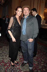 ANNABELLE SCHOFIELD and artist ADAM BRICUSSE at a party to celebrate the publication of The End of Sleep by Rowan Somerville held at the Egyptian Embassy, London on 27th March 2008.<br /><br />NON EXCLUSIVE - WORLD RIGHTS