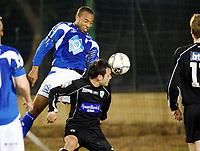 Fotball , 28. mars 2008 , Privatkamp La Manga ,  Hødd - Løv-Ham 1-1<br /> Her scorer Kyle Veris , Hødd