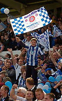 Photo: Jed Wee/Sportsbeat Images.<br /> Hartlepool United v Bristol Rovers. Coca Cola League 2. 05/05/2007.<br /> <br /> A young Hartlepool fan with a flag celebrating their promotion season.