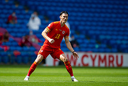 CARDIFF, WALES - Sunday, September 6, 2020: Wales' Kieffer Moore during the UEFA Nations League Group Stage League B Group 4 match between Wales and Bulgaria at the Cardiff City Stadium. (Pic by David Rawcliffe/Propaganda)