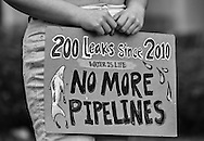 Rally against the Bayou Brdige pipeline held before a permit hearing for the pipeline in Baton Rouge on Jan 12, 2017.