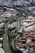 Belo Horizonte_MG, Brasil...Imagem aerea de Belo Horizonte, Minas Gerais. Na foto linha de metro...Aerial view of Belo Horizonte, Minas Gerais. In this photo the subway track...Foto: BRUNO MAGALHAES / NITRO