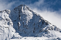 Snow covered mountain Peak,  New Zealand