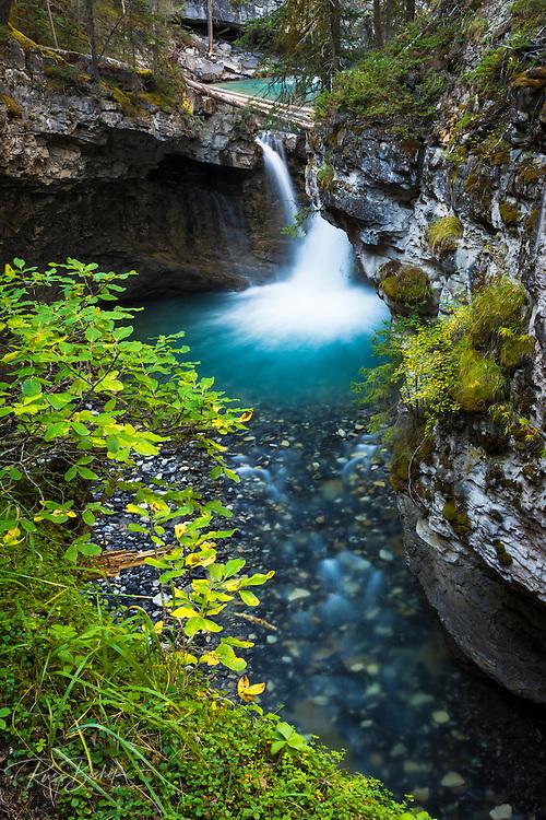 Cascade in Johnston Canyon, Banff National Park, Alberta, Canada