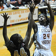 New Hanover's Kayleigh Merrell shoots over Ashley's Angel Smith Friday December 19, 2014 at New Hanover High School in Wilmington, N.C. (Jason A. Frizzelle)