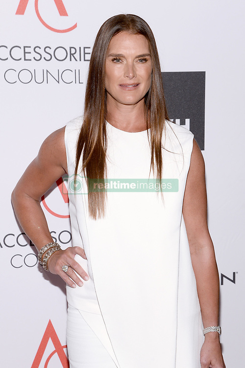 Brooke Shields attends the Accessories Council's 21st Annual celebration of the ACE awards at Cipriani 42nd Street in New York, NY, on August 7, 2017. (Photo by Anthony Behar) *** Please Use Credit from Credit Field ***