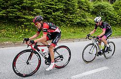 Hermann Pernsteiner (AUT) of Amplatz - BMC and Tadej Pogacar (SLO) of Rog - Ljubljana during Stage 3 of 24th Tour of Slovenia 2017 / Tour de Slovenie from Celje to Rogla (167,7 km) cycling race on June 16, 2017 in Slovenia. Photo by Vid Ponikvar / Sportida