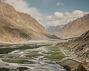 View of the Wakhan corridor. The traditional life of the Wakhi people, in the Wakhan corridor, amongst the Pamir mountains.