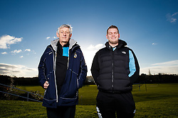 Keith Brookman and Steve Hood of Bristol Rovers pose during a portrait session during the 2015/16 Sky Bet League Two campaign - Mandatory byline: Rogan Thomson/JMP - 07966 386802 - 15/01/2016 - FOOTBALL - The Lawns Training Ground - Bristol, England - Sky Bet League Two.