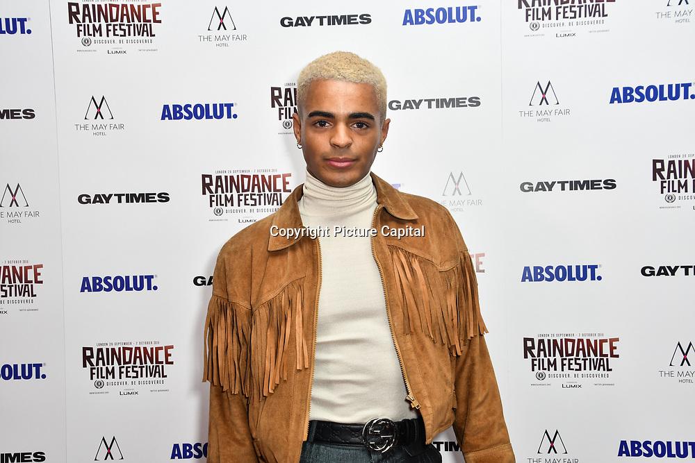 Layton Williams attends Raindance Film Festival Gay Times Gala screening - George Michael: Freedom (The Director's Cut) London, UK. 4th October 2018.