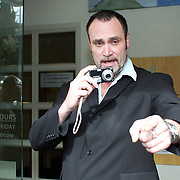 Queenstown bouncer Jonathan Dixon at Queenstown Court to face charges after posting CCTV footage of English rugby player Mike Tindall's night out in Queenstown on YouTube. Queenstown, New Zealand, 19th September 2011. Photo Tim Clayton...