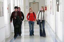 Teenagers in school. (Photo by Vid Ponikvar / Sportal Images)