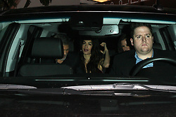 George Clooney and Amal Clooney are spotted leaving the Sunset Tower Hotel after attending Jennifer Aniston's 50th birthday party in West Hollywood. 10 Feb 2019 Pictured: George Clooney and Amal Clooney. Photo credit: MEGA TheMegaAgency.com +1 888 505 6342