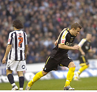Photo: Matt Bright/Richard Lane Photography.<br /> West Bromwich Albion v Cardiff City. Coca Cola Championship. 19/01/2008. <br /> Paul Parry scores the opening goal for Cardiff