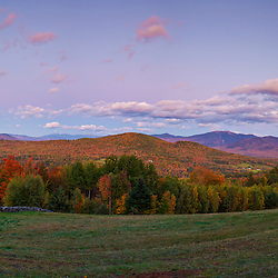 Franconia Ridge as seen from a field in Sugar Hill, New Hampshire. White Mountains.