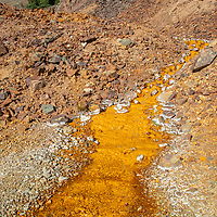 Waste water flows out of a mine shaft near Silverton, Colorado.