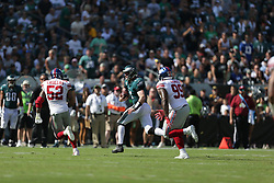 during the NFL game between the New York Giants and the Philadelphia Eagles at Lincoln Financial Field in Philadelphia on Sunday September 24th 2017. The Eagles won 27-24. (Brian Garfinkel/Philadelphia Eagles)