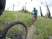 SHOT 8/5/17 2:31:49 PM - GoPro Hero 5 photos while riding Brian Head Resort in Brian Head, Utah with Vesta Lingvyte of Denver, Co. (Photo by Marc Piscotty / © 2017)