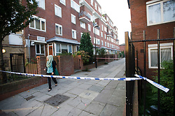 © licensed to London News Pictures. London, UK  30/09/2011. John Feardon Walk in North Kensington, West London where three teenage girls where shot yesterday evening (Thurs). The victims, aged 17, 18 and 19 are all in serious condition. Photo credit Ben Cawthra/LNP