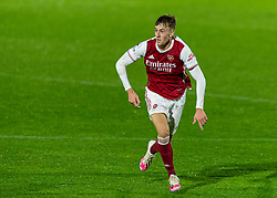 LONDON, ENGLAND - Friday, October 30, 2020: Arsenal's Nikolaj Möller during the Premier League 2 Division 1 match between Arsenal FC Under-23's and Liverpool FC Under-23's at Meadow Park. Liverpool won 1-0. (Pic by David Rawcliffe/Propaganda)
