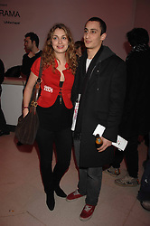 ALEX DELLAL and LAURE DE CLERMONT-TONNERRE at the Art Plus Drama party Held at the Whitechapel Art Gallery, London E1 on 8th March 2007. <br />