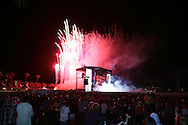 17th April 2009. Indio, California. Fireworks above the main stage at the Coachella Music Festival..PHOTO © JOHN CHAPPLE / REBEL IMAGES.tel +1 310 570 9100    john@chapple.biz