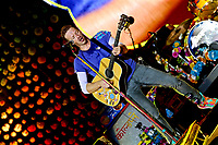 Coldplay  live  on The Pyramid Stage at Glastonbury Festival 2016, Worthy Farm, Pilton, Somerset, UK photo by David Court