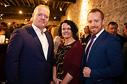 02/04/2019 Repro free:  <br /> Declan Droney SBP, Annette Hassett and Michael Smyth SCCUL  at Harvest in the Mick Lally Theatre , an opportunity to share ideas for innovation and growth and discuss how to cultivate the city as a destination for innovation, hosted by GTC  and Sponsored by AIB and The Sunday Business Post .<br /> <br /> A keynote address Start Up to Multinational - Positioning & Marketing Software for an International Audience from Joe Smyth, VP of R&D at Genesysat Genesys and a Panel Discussion on International Growth Through Innovation and Positioning<br /> Mary Rodgers- Innovation Community Managerat the Portershed (moderator)<br /> Kathryn Harnett- Senior Consultantat Milltown Partners LLP, Giovanni Tummarello, Founder and CPOat Siren,  Mark Quick, Founding Director 9th Impact and Founding Director, Nephin Whiskey, Nicola Barrett, Senior Marketing Managerat Connacht Rugby<br />  Photo: Andrew Downes, Xposure