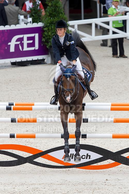 Maiju Mallat, (FIN), Armani The Gun CH - Team & Individual Competition Jumping Speed - Alltech FEI World Equestrian Games™ 2014 - Normandy, France.<br /> © Hippo Foto Team - Leanjo De Koster<br /> 02-09-14
