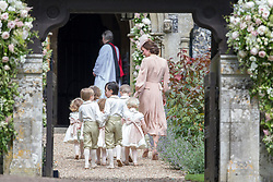 ENGLEFIELD- UK -20th May 2017: ..Pippa Middleton Wedding..The wedding of Pippa Middleton, sister of Kate, Duchess of Cambridge takes place at St Mark's Church Englefield in Berkshire..Pippa marries James Matthews. Present at the ceremony were her sister, Kate with Prince William and Prince Harry. Prince George and Princess Charlotte were pageboy and bridesmaids..©Ian Jones/Exclusivepix Media (Credit Image: © Exclusivepix media via ZUMA Press)