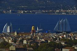 September 30, 2018 - Saint Tropez, France - Arrivee des voiliers a st tropez (Credit Image: © Panoramic via ZUMA Press)