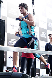 May 28, 2018 - New Delhi, India - Wrestler Ritu Phogat running on a electric thread mill During the launch of New Shoes Range of Skechers Go Run 6 (Credit Image: © Jyoti Kapoor/Pacific Press via ZUMA Wire)